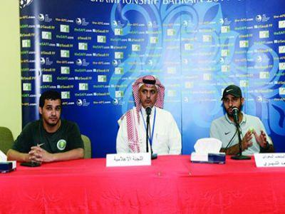 المدرب سعد الشهري يدعو الجماهير للحضور ودعم الأخضر