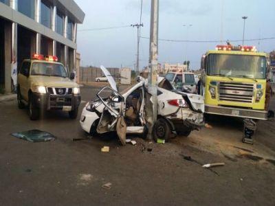 وفاة وإصابة ثلاثة أشخاص في حادث مروع في #تنومة