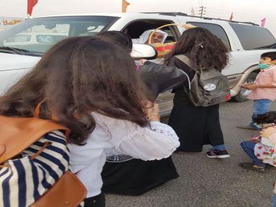 """حملة توعوية بأضرار الغبار ينفذها نادي الحي المدرسي بتنومة """"بنات"""""""