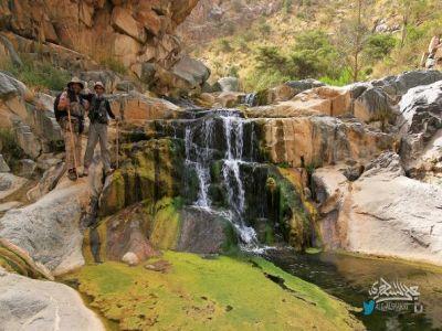 """10ساعات في رحلة مشاة بين هدير الشلالات وأشجار الغابات في وادي """"حضر"""" بـ #النماص ٢٣-١٠-١٤٣٨"""