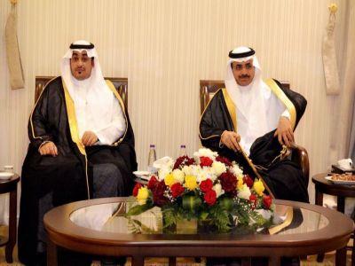 كبير المذيعين بالتلفزيون السعودي في ضيافة رجل الأعمال محمد خضيرة