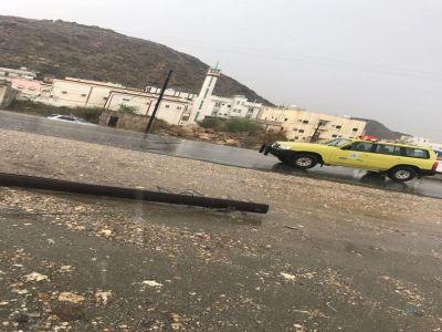 بيان الدفاع المدني حول الأمطار التي هطلت على منطقة #عسير يوم أمس الأربعاء