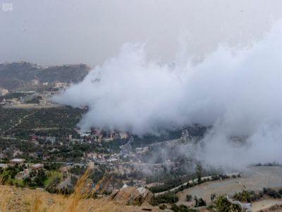 #صور:الضباب يعانق جبال ومنتزهات #الباحة