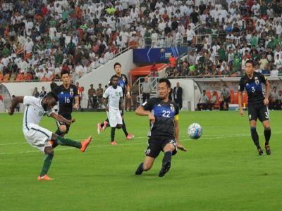 #صور من مباراة #السعودية_اليابان وتأهل الأخضر لـكأس العالم
