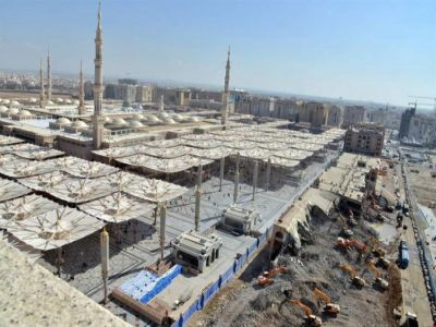 مصادر: اكتمال 60% من أعمال توسعة الساحات الغربية بالمسجد النبوي الشريف