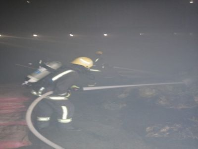 اخماد حريق شب في هنقر أعلاف في #بيشة