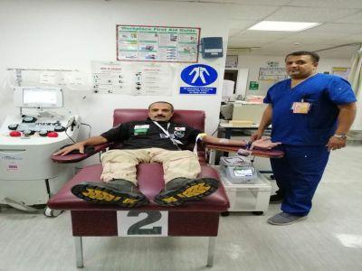 مشاة الجنوب ينظم حملة التبرع بالدم للجنود المرابطين