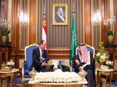 خادم الحرمين الشريفين يلتقي رئيس جمهورية مصر العربية