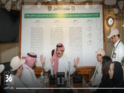 """الأمير تركي بن طلال يطلق شارة بدء الأعمال الميدانية لمبادرة """"عسير كذا أجمل"""""""