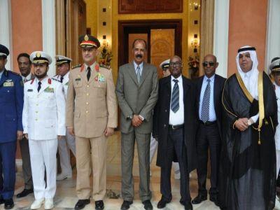 الرئيس الإريتري يستقبل سمو قائد القوات المشتركة