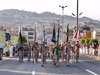 اليوم الوطني 89 في #عسير يشهد تفاعلا شعبيا كبيرا مع العرض العسكري