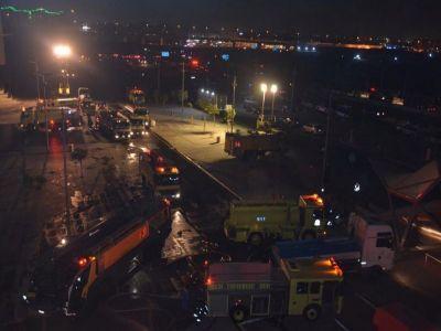 امارة مكة تنشر فيديو لحريق #قطار_الحرمين و #الدفاع_المدني يعلن السيطرة