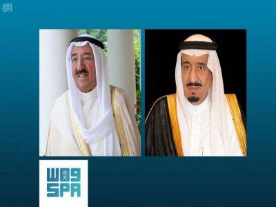 خادم الحرمين يجري اتصالا هاتفيا بأمير الكويت
