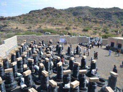 شبكات الري بالتنقيط دعم #السعودية للمزارعين في #اليمن