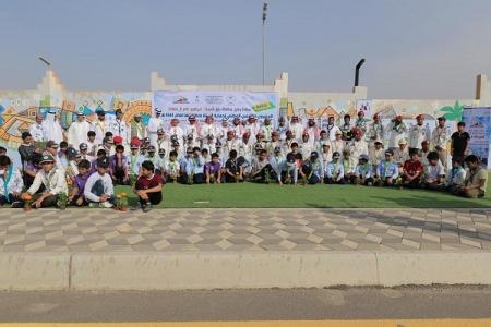 وكيل محافظة بارق يدشن المشروع الكشفي الوطني لنظافة البيئة وحمايتها الـ12