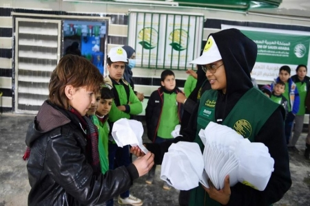 وزارة العمل والتنمية الاجتماعية تشارك في الرحلة التطوعية في مخيم الزعتري