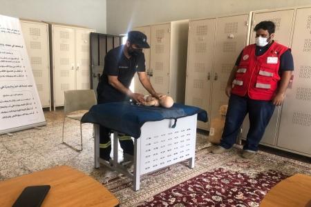 الدفاع المدني بـ #تنومة يقيم مبادرة سفير الحياة للاسعافات الأولية