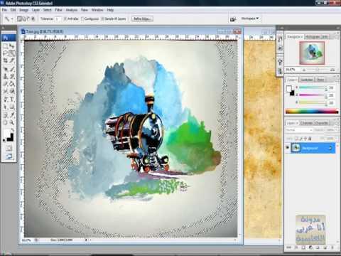 الدرس السادس فوتوشوب Photoshop كيفية تحديد جزء 1-3