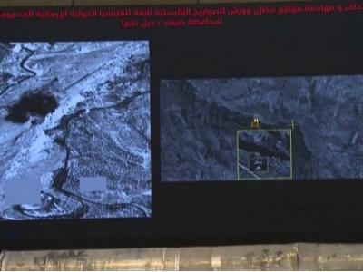 شاهد الطيران السعودي في عملية نوعية لتدمير مخازن الأسلحة والصواريخ و الطائرات بدون طيار لمليشيا الحوثي في اليمن