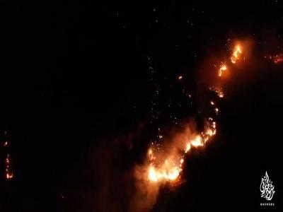 #شاهد تصوير جوي يوضح الدمار الهائل الذي خلفه #حريق _تنومه    توثيق رشود الحارثي